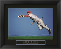 Framed Ambition - Baseball Player