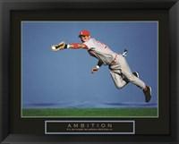 Framed Ambition - Baseball Player