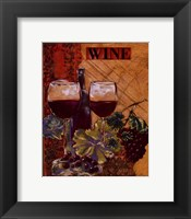 Framed World Of Wine I