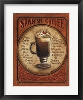 Spanish Coffee Framed Print