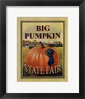 Framed Big Pumpkin