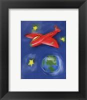 Space Plane Framed Print