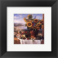 Framed Sunflower View II