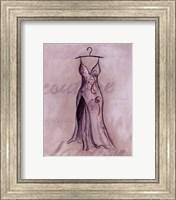 Framed Gray Gown