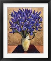 Framed Blue Iris Bouquet
