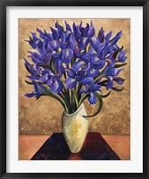 Framed Blue Iris Bouquet