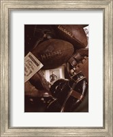 Framed Vintage Football (Sepia)