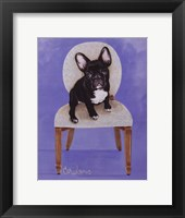 Framed Lulu The French Bulldog
