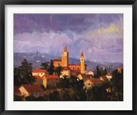 Framed Hills Of Vinci