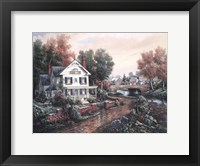 Framed Vintage Island Home