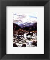 Framed High Mountain Crossing