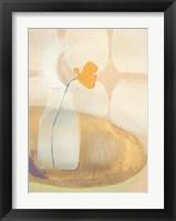 Framed Orange Flower in Bottle