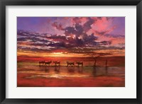 Framed African Sunset