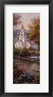 Razzberry Creek Panel II Framed Print