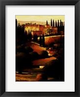 Green Hills of Tuscany I Framed Print