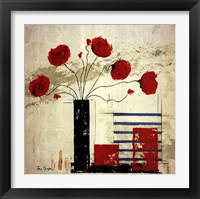 Framed Les Coquelicots II