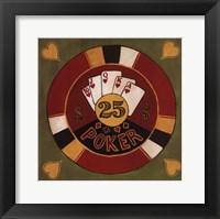Poker - $25 Framed Print