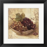 Sunlit Grapes Framed Print