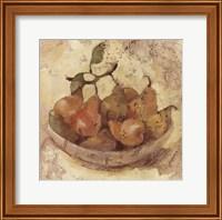 Framed Sunlit Pears