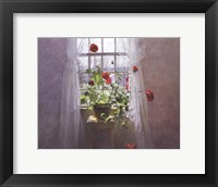 Framed Red Geraniums (Small)