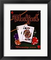 Blackjack Framed Print