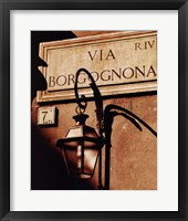 Via Borgognona Framed Print
