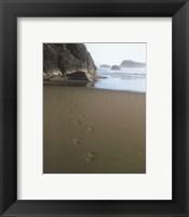 Framed Ocean Footprints