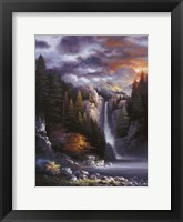 Framed Misty Falls