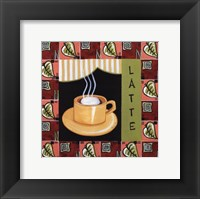 Coffee-Latte Framed Print