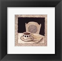 Stay For Coffee II Framed Print