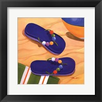 Framed Purple Flip Flops