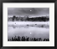 Framed Lake Flower Moonset