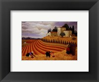 Framed Village Harvest