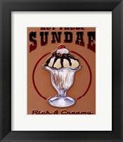 Framed Hot Fudge Sundae