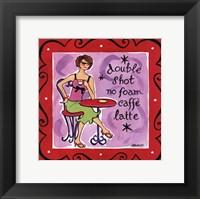 Girl Talk-Latte Framed Print