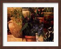 Framed Flower Pots Left