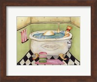 Framed Bathing Lady II