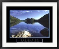 Framed Dedication - Jordan Pond