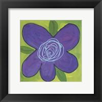 Framed Purple Flower