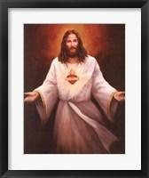 Framed Jesus' Sacred Heart