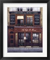Framed Au Cafe St. Honore