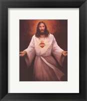 Framed Jesus' Sacred Heart