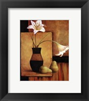 Framed Lilly And Pears