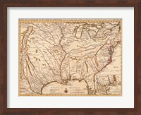 Framed Rivers Of America, 1720