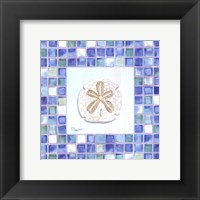 Framed Mosaic Sanddollar - Mini