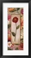 Sweet Romance Panel III Framed Print