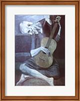 Framed Old Guitarist
