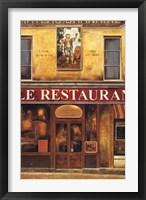 Le Restaurant Framed Print