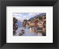 Framed Village On The Water