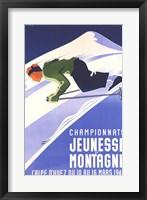 Framed Championnats Jeunesse Et Montagne